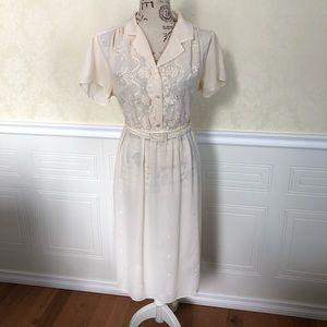Vintage Sheer White T-Shirt Dress